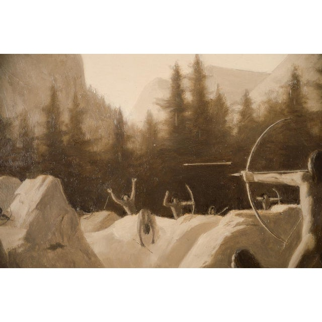 1911 Charles Jacob Hittell Native American Legends #4 Original Oil Painting For Sale - Image 5 of 9