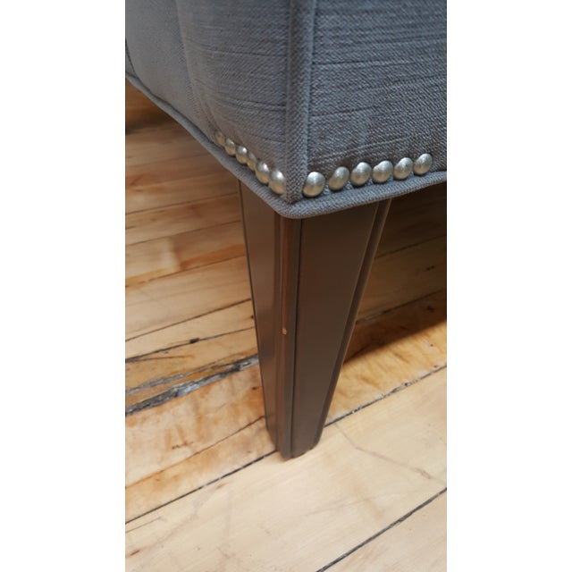 Gray Contemporary Wesley Hall Tufted Club Chair For Sale - Image 8 of 10