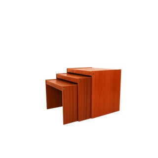 Nordisk Andels Eksport Danish Mid Century Denmark Teak Nesting Tables For Sale