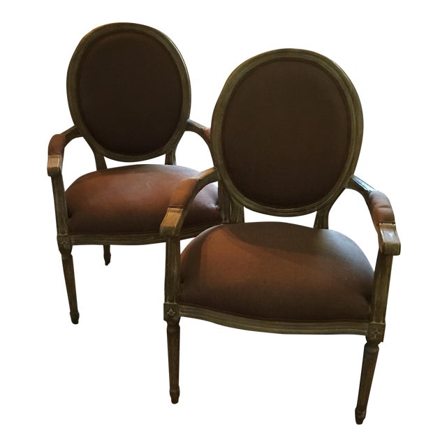 Louis Arm Chairs - a Pair - Image 1 of 8