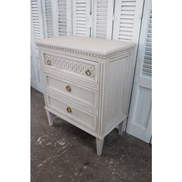 20th Century Swedish Gustavian Style Nightstands - A Pair For Sale In Atlanta - Image 6 of 12