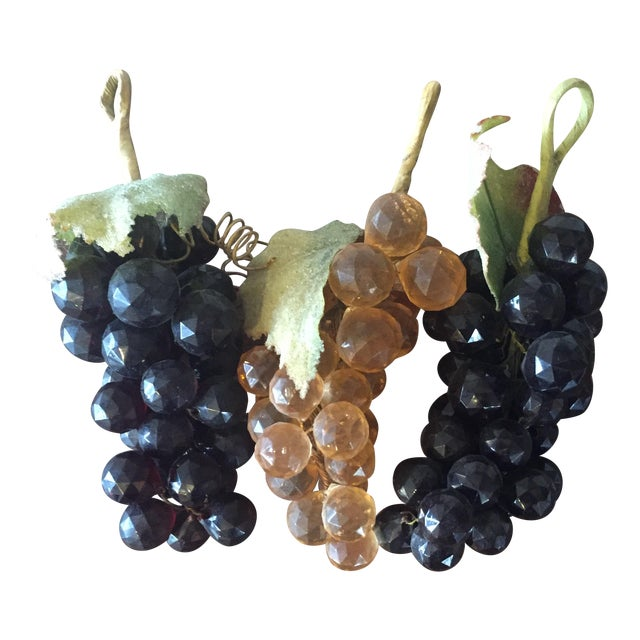 Vintage Faceted Grape Clusters - Set of 3 - Image 1 of 5