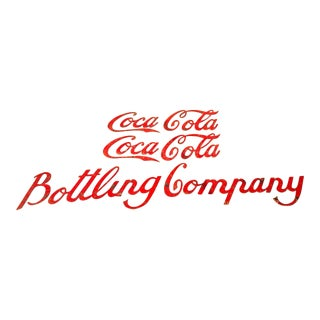 Early 20th Century Antique Coca Cola Bottling Company Sign For Sale