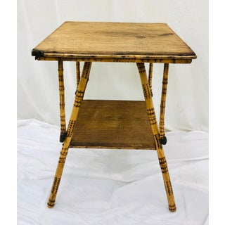 Antique Scorched Bamboo Table Preview