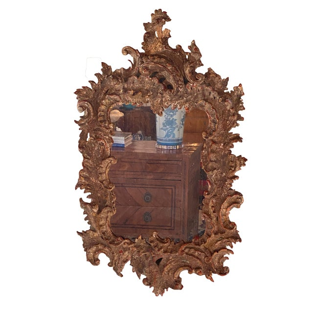 French Antique Gessoed Mirror For Sale - Image 3 of 5