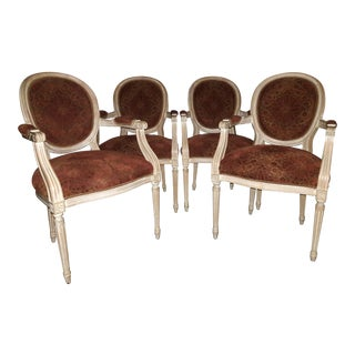Century Chair Company Louis XVI Bergere Chairs - Set of 4