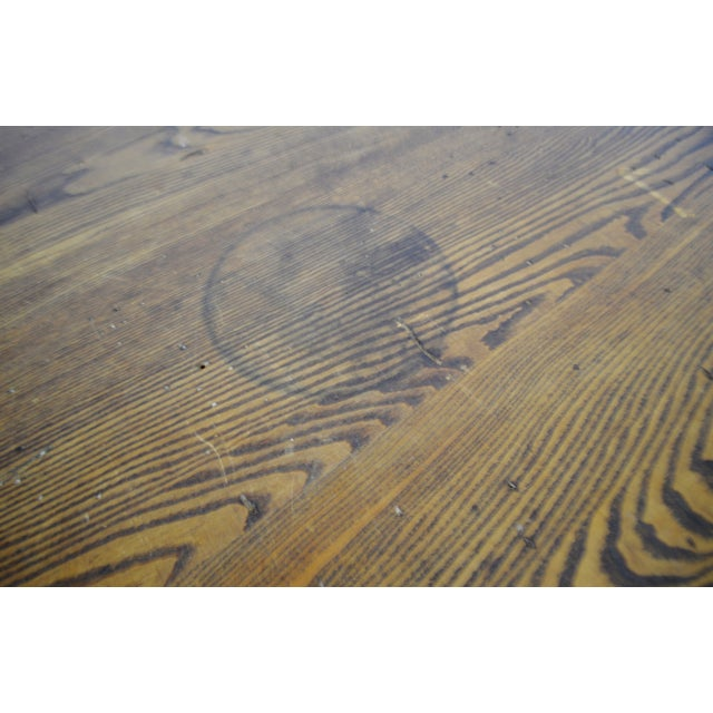 Rene Brancusi Chestnut & Iron Table - Image 10 of 10
