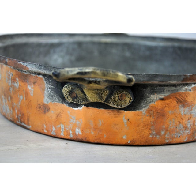 Oval Antique Copper Bowl For Sale In New York - Image 6 of 11