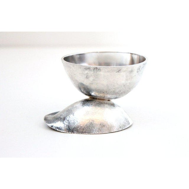 Silver Sculptural Modernist Sterling Creamer and Sugar Bowl For Sale - Image 8 of 11