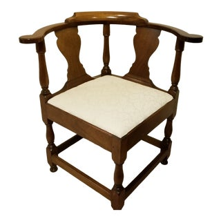 1950s Vintage Kittinger Colonial Williamsburg Mahogany Corner Chair For Sale
