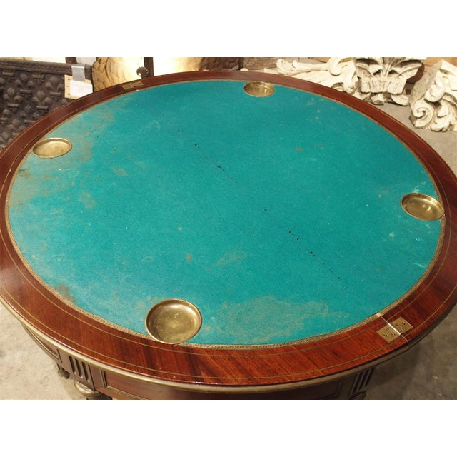 Antique French Mahogany Demi Lune Game Table, Circa 1885 For Sale In Dallas - Image 6 of 11