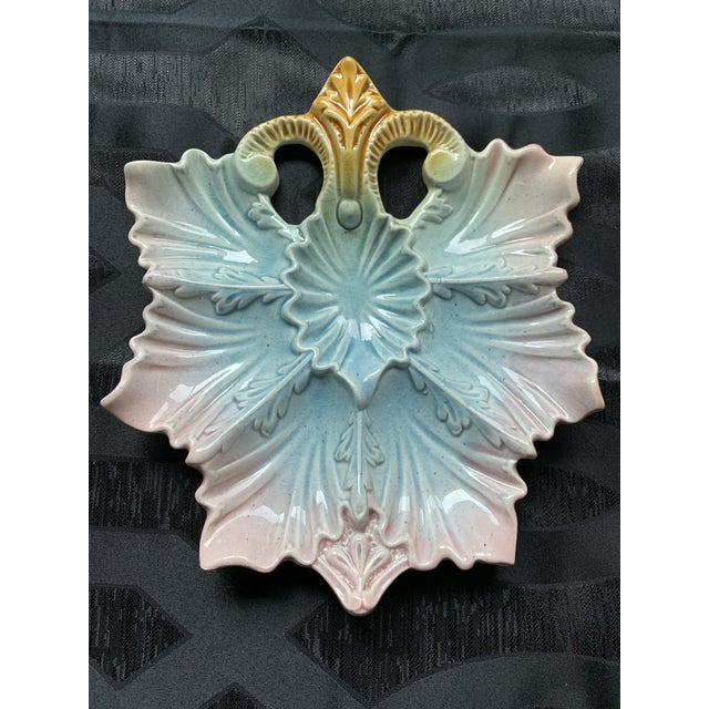 Late 19th Century Antique French Majolica Oyster Plate For Sale In Chicago - Image 6 of 9