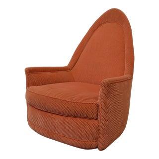 Mid-Century Modern Return Swivel Milo Baughman Club Chair For Sale