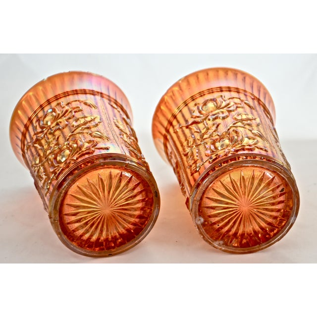 Antique Iridescent Gold Vessels - a Pair For Sale - Image 4 of 4