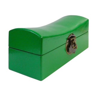 Chinese Traditional Bright Green Pillow Shape Container Box Preview
