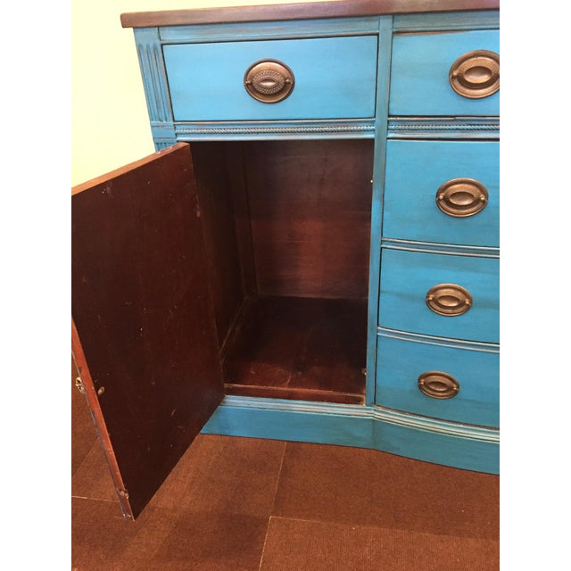 1940s Corinth Blue Credenza - Image 8 of 10