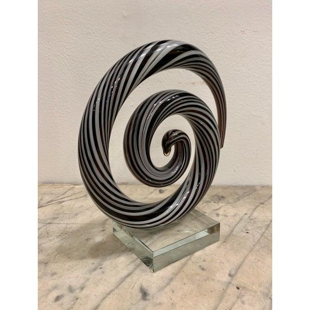 Modern Venetian Murano Glass Sculpture For Sale - Image 3 of 5