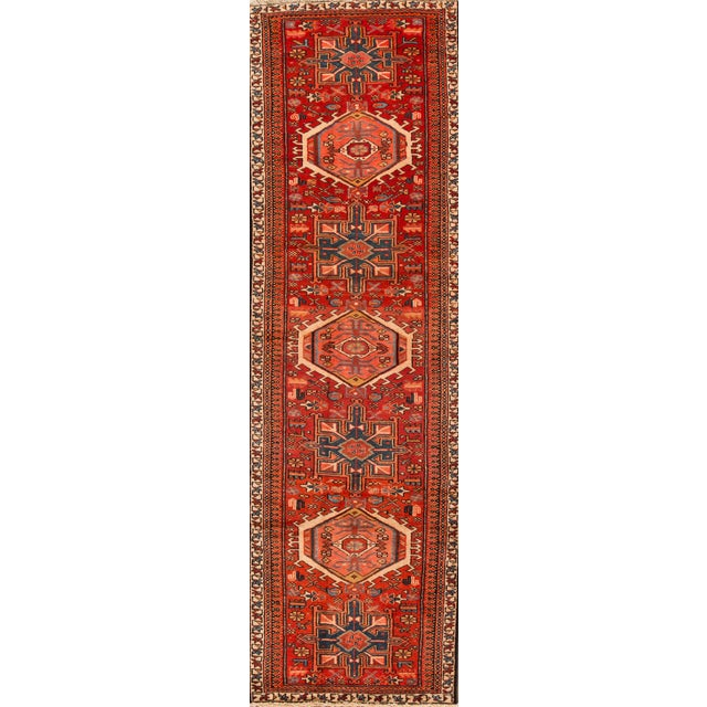 "Apadana - Vintage Persian Heriz Rug, 2'11"" x 10'2"" For Sale - Image 5 of 5"