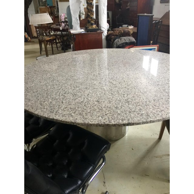 1970s Marble & Chrome Dining Table For Sale - Image 5 of 9