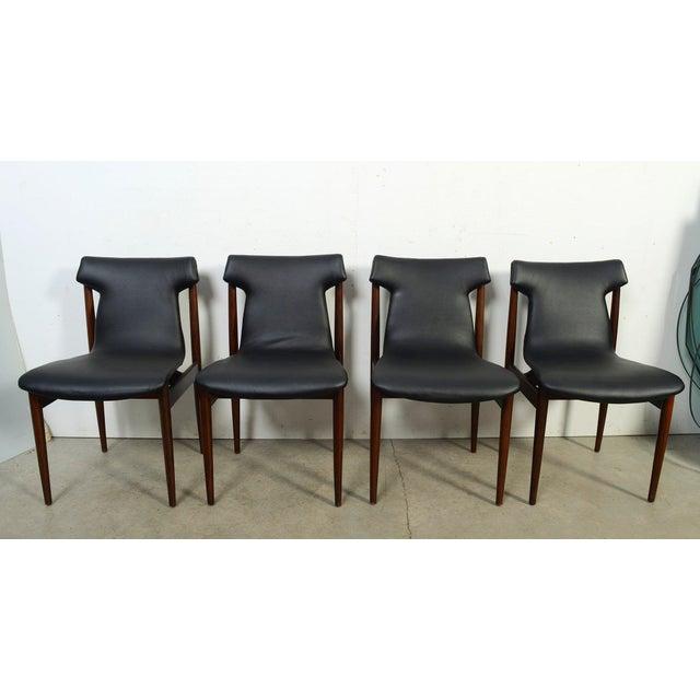 1960s Vintage Klingenberg for Fristho Danish Modern Rosewood Dining Chairs- Set of 4 For Sale - Image 10 of 10
