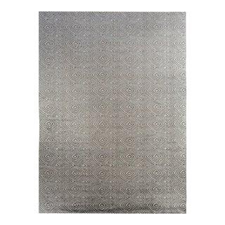 Modern Gray Thumbprint Rug For Sale