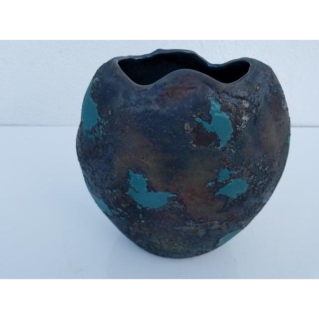 1970s Tony Evans Art Raku Vase For Sale - Image 5 of 10