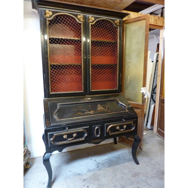 Chinoiserie Secretaire/Bookcase For Sale - Image 10 of 10