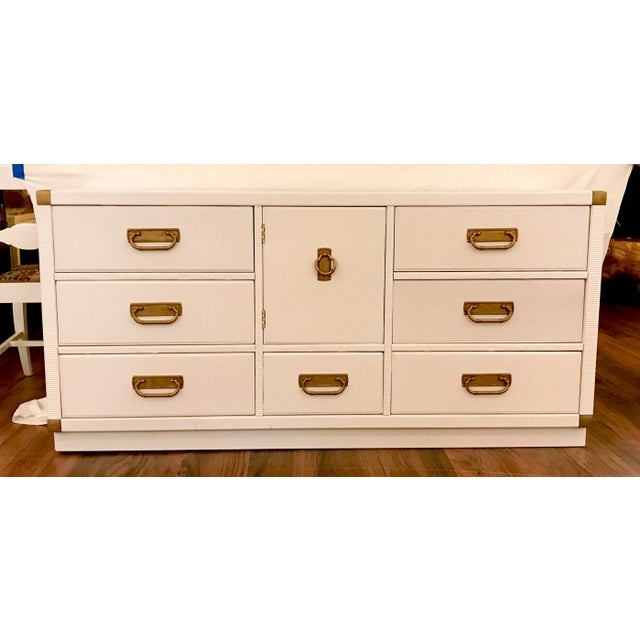 Lacquered Campaign Credenza by Drexel For Sale - Image 9 of 9