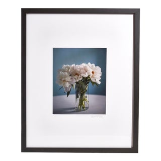 """""""Peonies in Vase"""" Contemporary Floral Still Life Photograph, Framed For Sale"""