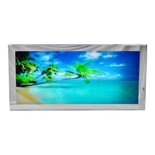 Large Illuminated Ocean Beach Scene Motion Wall Art W/ Sound