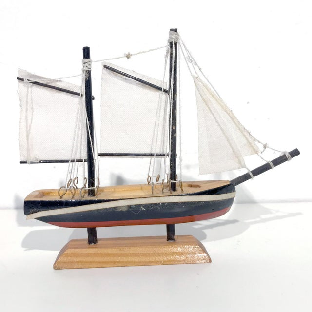 Nautical Wooden Model Sailing Ship - Image 7 of 11