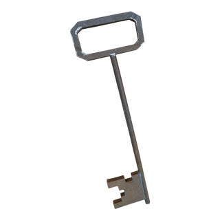 1920s Decorative Metal Skeleton Key For Sale