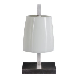 Bell Shape Lamp - Bai Jade Peking Glass by Robert Kuo, Limited Edition For Sale
