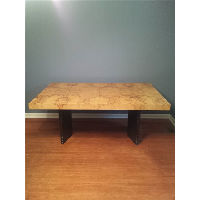 Milo Baughman-Attributed Burl Dining Table - Image 2 of 11