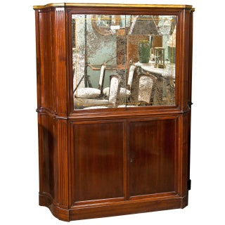 Art Deco Style Mahogany Bar Cabinet For Sale