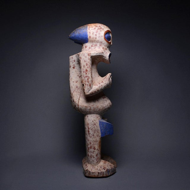 African Bangwa Wooden Polychrome Sculpture For Sale - Image 3 of 5