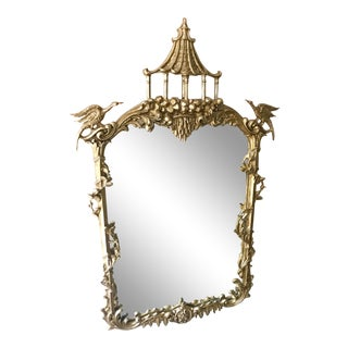 La Barge Chippendale Chinoiserie Pagoda Wall Mirror For Sale