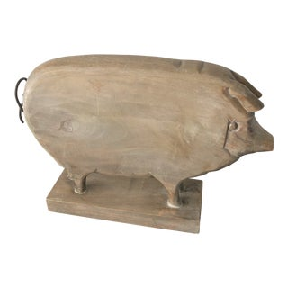Rustic Farmhouse Wooden Pig