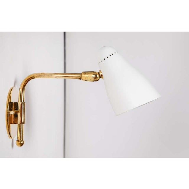 O-Luce 1950s Giuseppe Ostuni Articulating Arm Sconces for O-Luce - a Pair For Sale - Image 4 of 13
