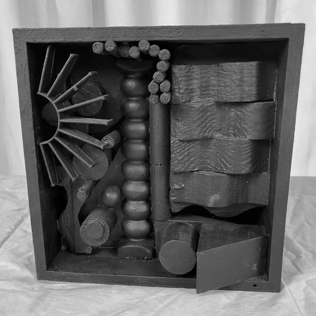 Contemporary Assemblage Sculpture After Louise Nevelson For Sale In Palm Springs - Image 6 of 6