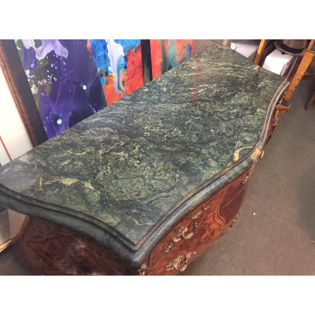 1950s French Louis XV Style Marble Commode For Sale - Image 5 of 12