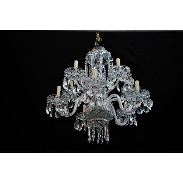 1930s Art Deco Crystal Chandelier For Sale - Image 5 of 6