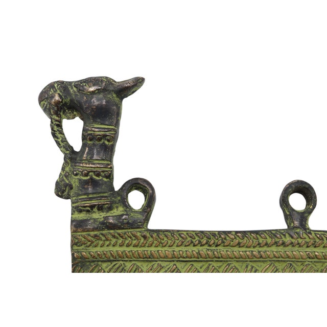 Bohemian Green Brass Camel Wall Hooks For Sale - Image 4 of 5
