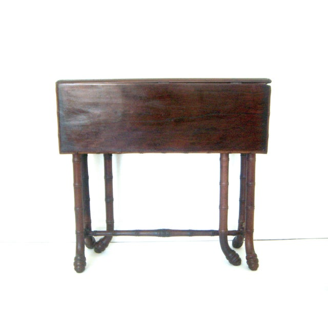 Antique Faux Bamboo Gate Leg Table - Image 3 of 8