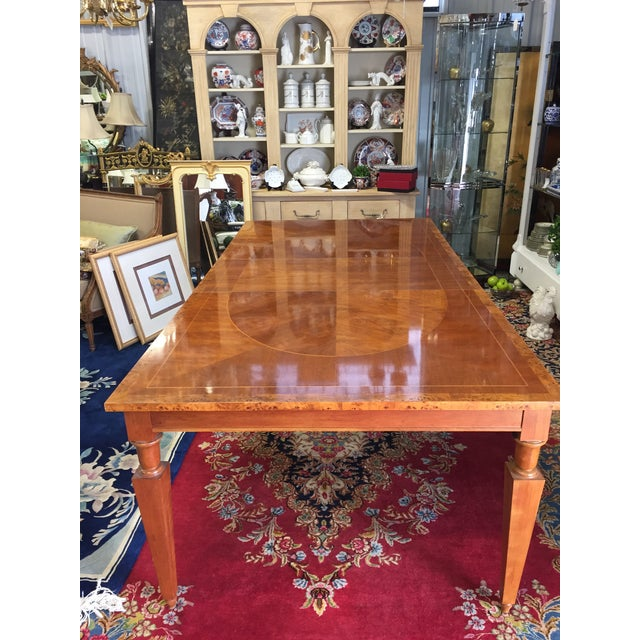 Vintage Baker Walnut Dining Table - Image 4 of 8