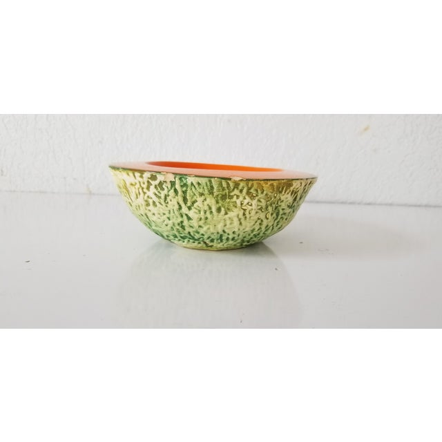 Mid-Century Modern Italian Cantaloupe Bowl by Ed Langbein For Sale - Image 3 of 9
