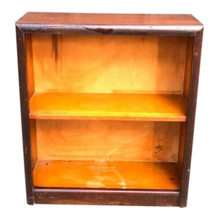 Mid-Century Modern Small Wood Bookcase For Sale