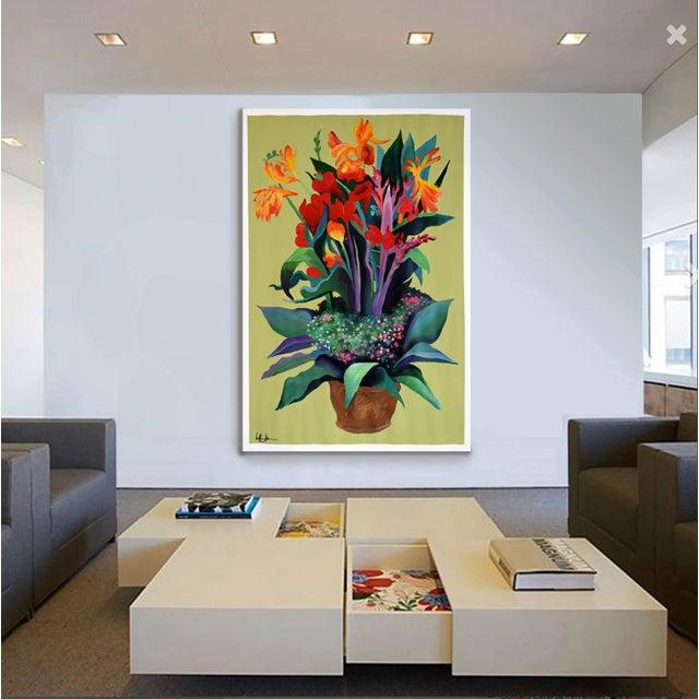 Pot De Fleurs Acrylic Painting - Image 2 of 8