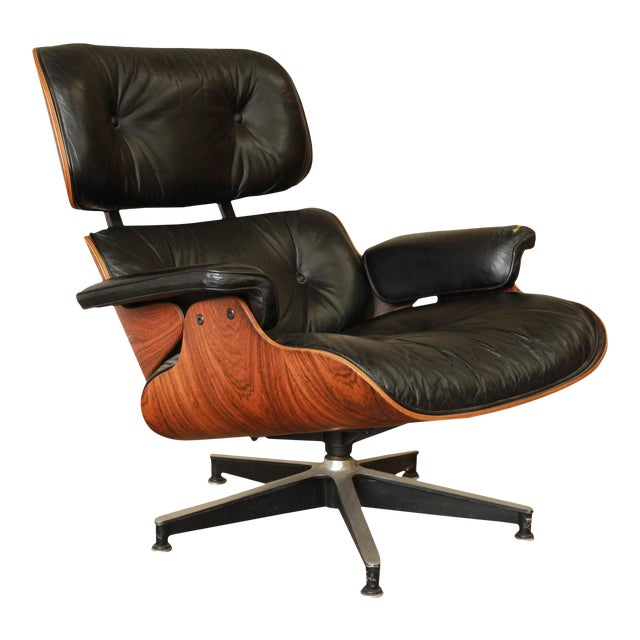 Excellent Eames for Herman Miller 670 Rosewood Lounge Chair   DECASO