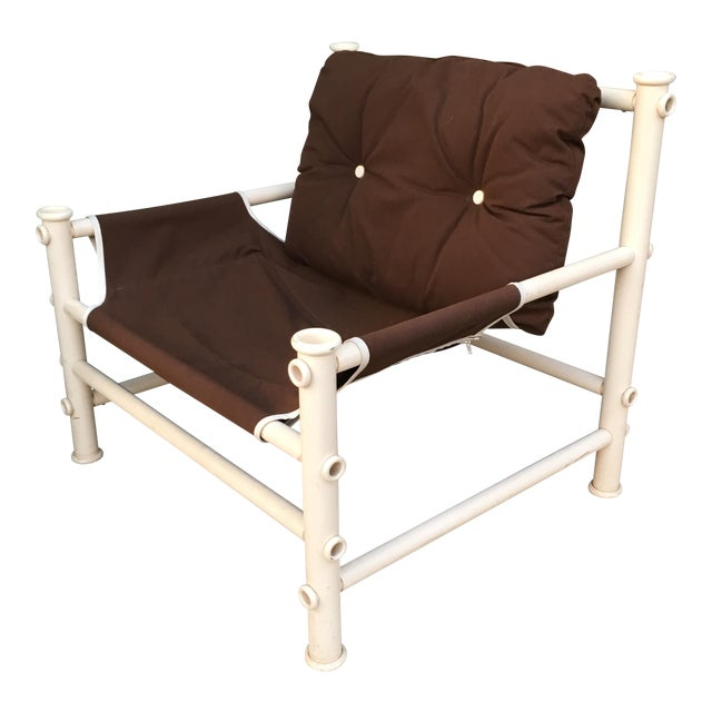 Vintage PVC Pipe Lounge Chair For Sale